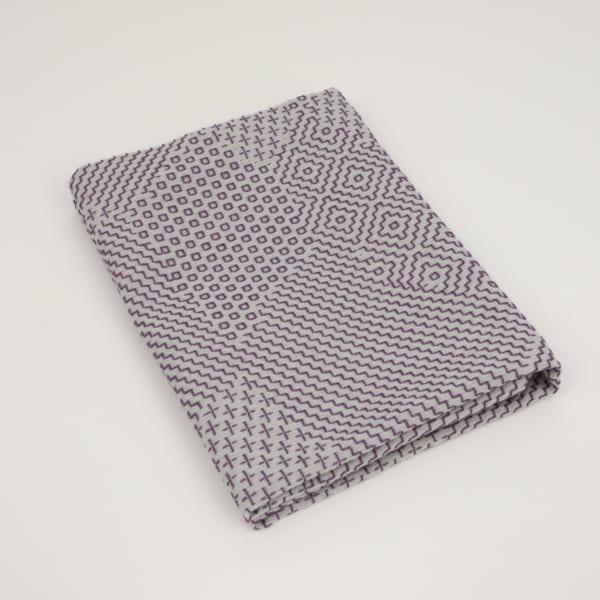 三和織物 袱紗 灰×紫