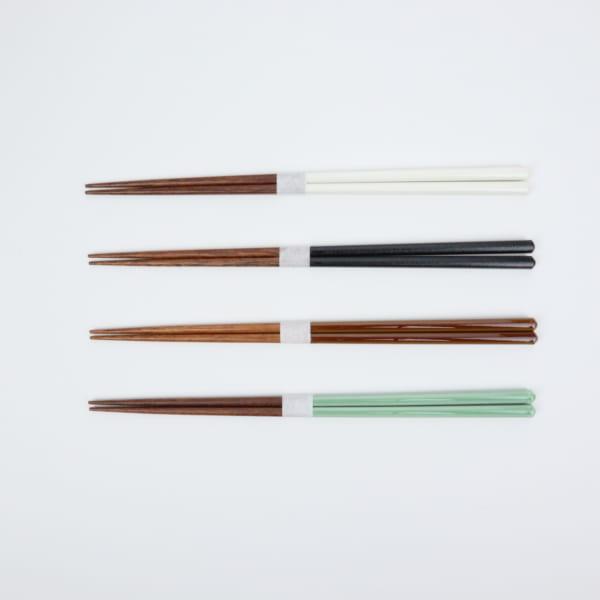 益子色の箸 青磁