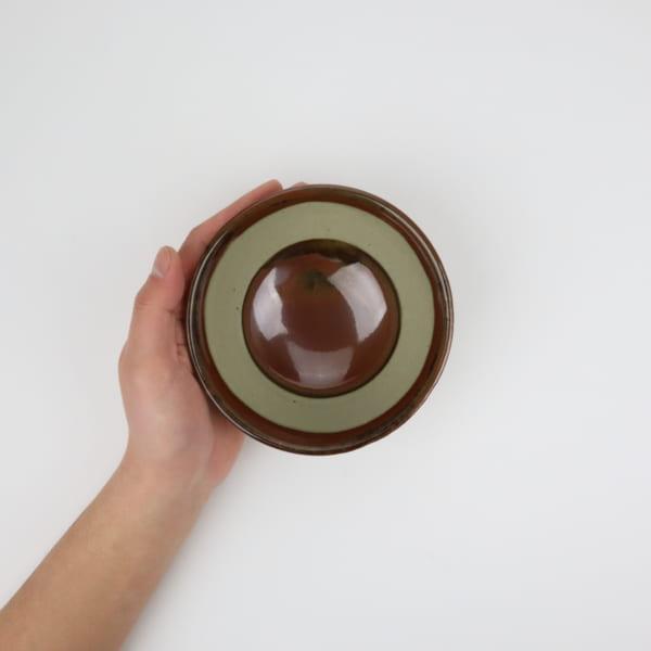 【大塚雅淑】柿釉五寸鉢