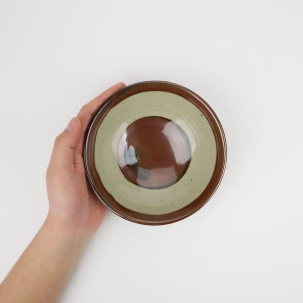 【大塚雅淑】柿釉飯碗