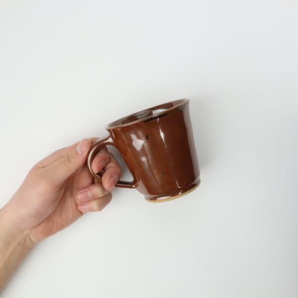 【大塚雅淑】柿釉マグカップ