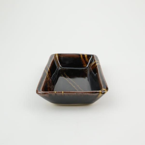 【萩原芳典】飴釉長角鉢