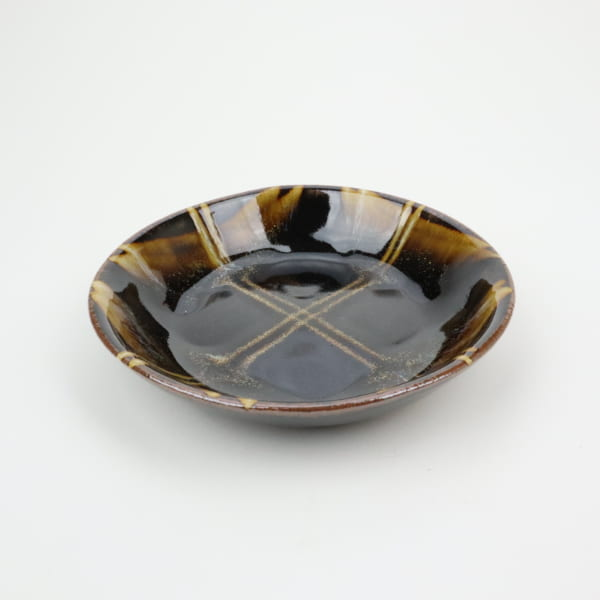 【萩原芳典】飴釉楕円皿