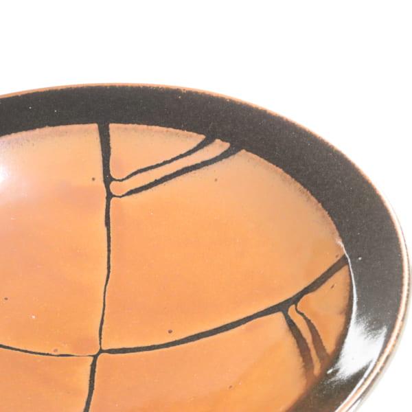 【萩原芳典】柿釉鉢